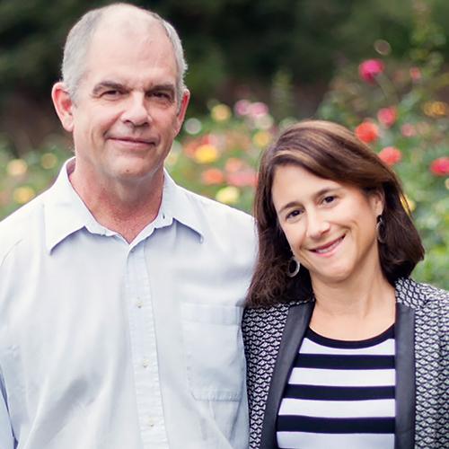 Liz Simons and Mark Heising