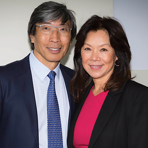 Michele B. Chan and Patrick Soon-Shiong